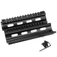 Free Shipping 17cm Airsoft Gear Tactical Hunting Shooting AR 15 M4 Handguard Rifle Carbine Weaver Picatinny Quad Rail (4 hole)