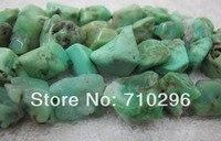 רן סטון Chrysoprase נאגט חרוזים אבן חצי יקרים אבן עבור תכשיטי necklce מחרוזות diy 5/lot 15.5