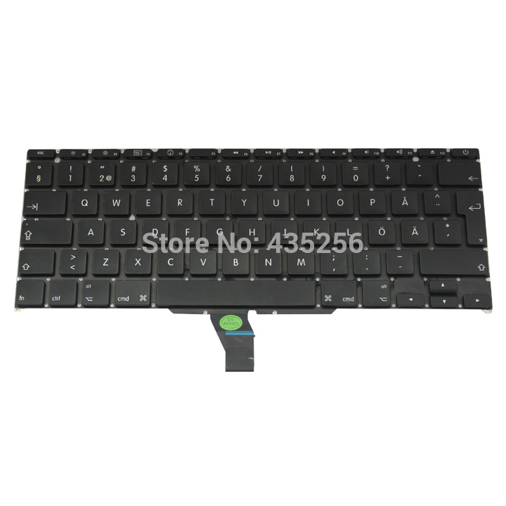 SE Keyboard For Macbook Air 11'' A1370 Sweden Swedish MD711 MD712 MD223 MD224 MC968 MC969 MC505