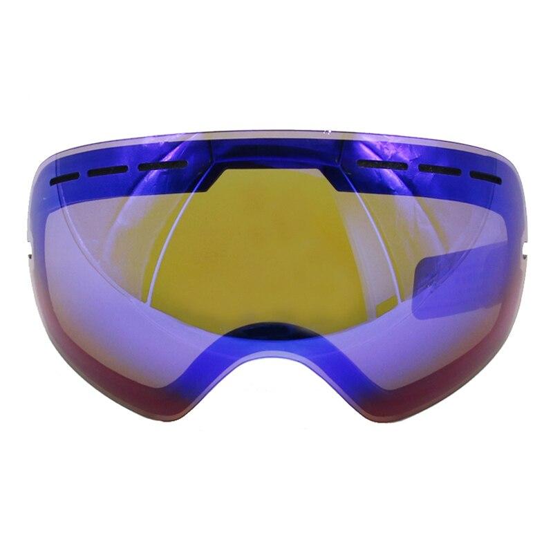 LOCLE GOG-201 Lens Ski Goggles Lens Anti-fog UV400 Big Spherical Ski Glasses Snow Goggles Eyewear Lenses Replacement(Lens Only)