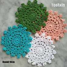 New Round Lace cotton table place mat dining pad Cloth crochet placemat cup mug tablecloth tea coaster handmade doily kitchen hot lace round cotton table place mat dining pad cloth crochet placemat cup mug tablecloth tea coaster handmade doily kitchen