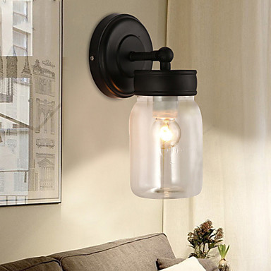 Loft Style LED Wall Sconce Bedside Antique Glass Wall Lamp For Living Room Vintage Wall Light Indoor Lighting Lampara Pared modern iron lights e27 led wall mounted light for bedside reading creative lamp living room foyer home lighting lampara de pared