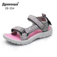 Apakowa Girls 여름 오픈 토우 후크 앤 루프 비치 워킹 스포츠 샌들 아동 워셔블 퀵 드라이 슬링 백 워터 샌들 신발|샌들|엄마와 아이 -