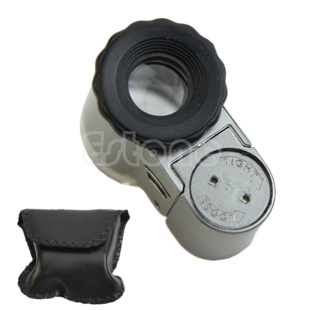 Mini 50X Digital Microscope With LED Lights Loupe Pocket Jewelry Magnifier New