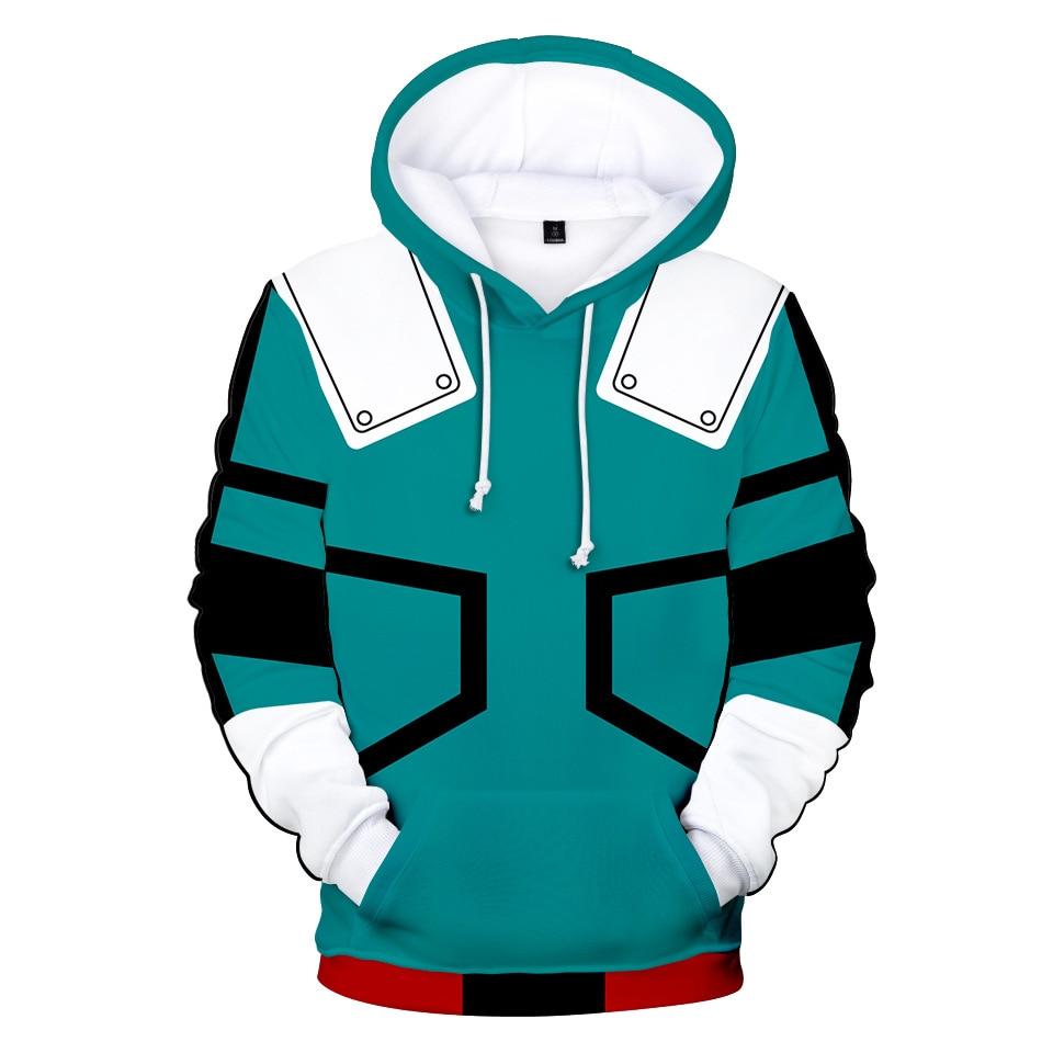 Midoriya Izuku Deku Cosplay Costume One for All Hoodie Pullover Sweatshirt