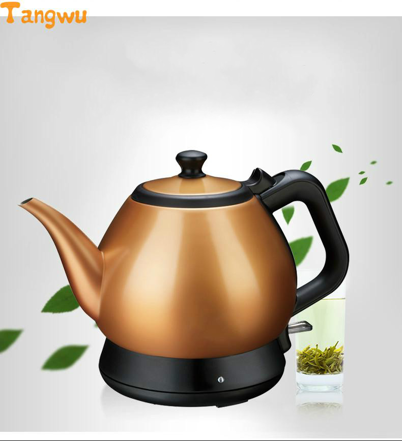 Free shipping All stainless steel long mouth electric teapot small tea pot authentic Electric Kettles Anti-dry Protection free shipping 250g far from pretty tea raw tea