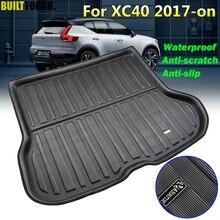 Bandeja de forro para maletero a medida, para Volvo XC40 2017 2018 2019 2020, alfombrilla de maletero trasera para coche, lámina de suelo, alfombra, Protector de barro, impermeable