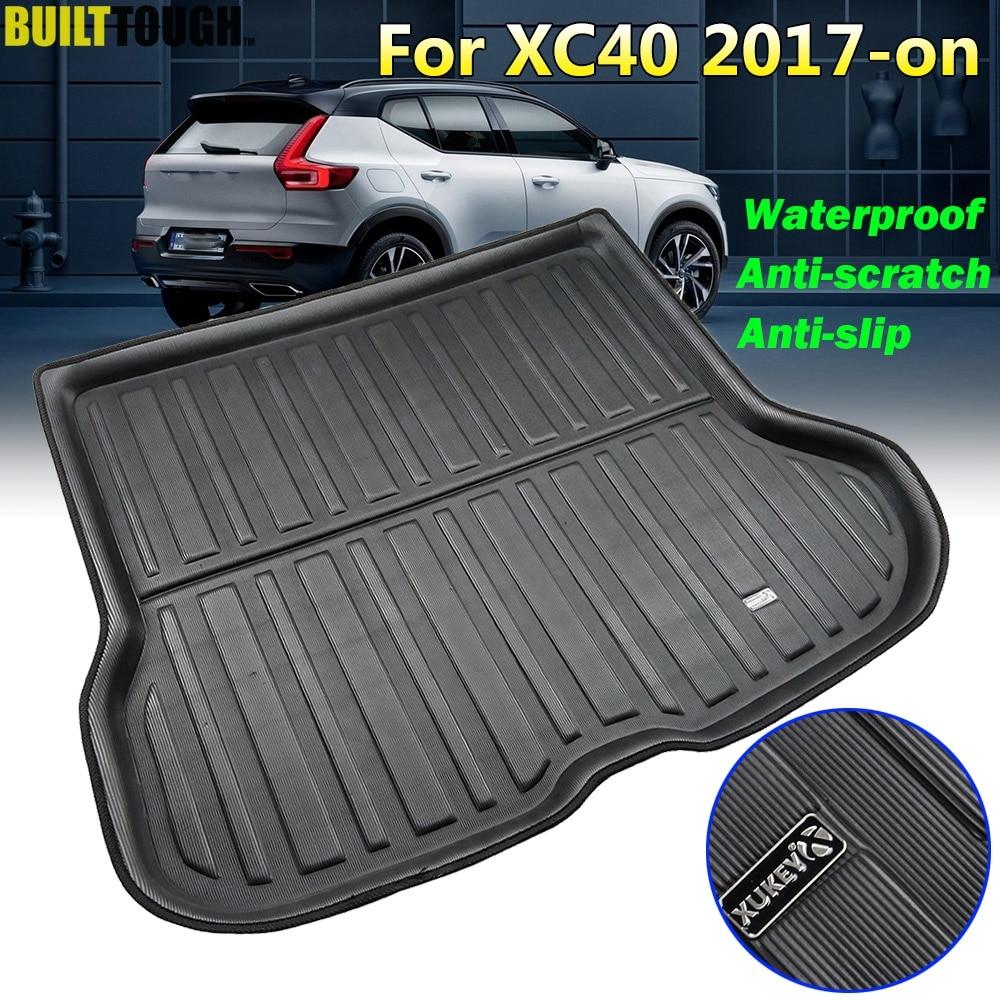 Специальный поднос для багажника Volvo XC40 2017 2018 2019 2020, Автомобильный задний багажник, коврик для груза, напольный коврик, защита от грязи, водон...