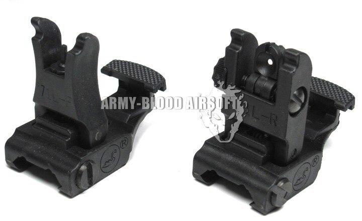 Тактический a.r.m.s.# 71L-F/R Комплект переднего и заднего вида черный DE - Цвет: Черный