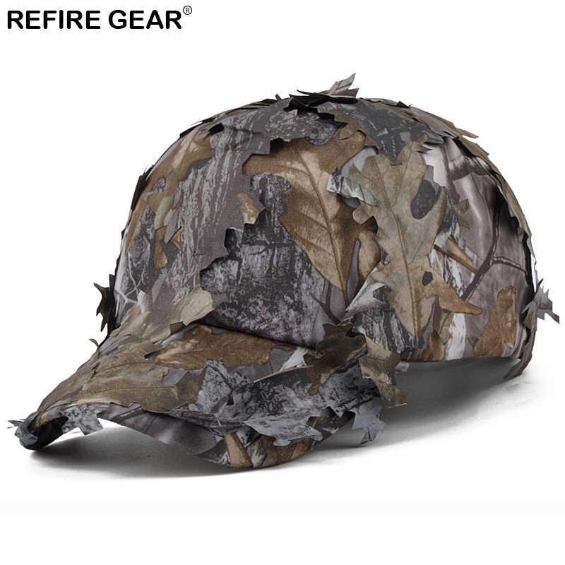 Gorra de camuflaje para hombre de ReFire Gear, gorra de camuflaje para la selva, gorra de camuflaje para exteriores de secado rápido, gorra Snapback para senderismo, gorras de Caza y Pesca