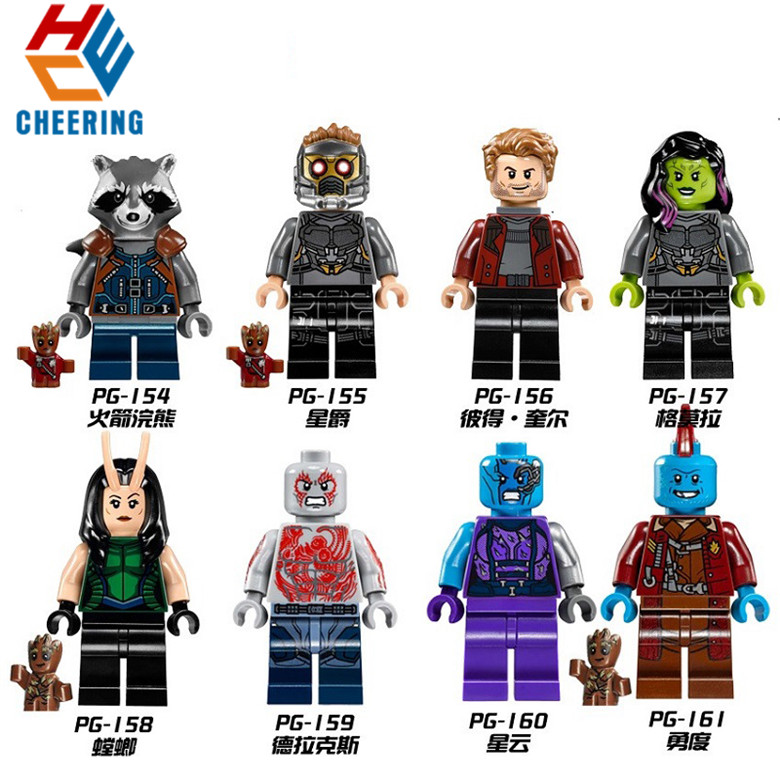 Single Sale Building Blocks Guardians Star-Lord Nebula Mantis Gamora Figures Bricks Dolls Toys For Children PG8044