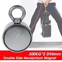 600KG/450kg Powerful Double Side Neodymium Magnet Fishing Metal Hunting Sea Treasure Search Neodymium Recovery