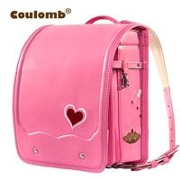 Кулоновского детский ортопедический рюкзак для девочки школьная сумка из искусственной кожи Love красное платье принцессы детские книги Сум
