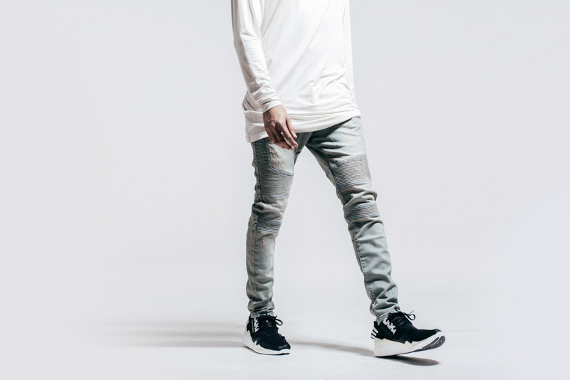 biker jeans Picture - More Detailed Picture about Mens Skinny ...