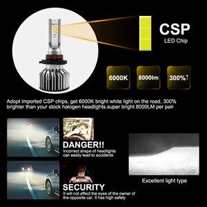 Image 5 - Roadsun Led H4 H7 سيارة مصباح أضاءه أمامي H1 H11 HB2 H8 9005 HB3 HB4 9006 مصباح ليد 12V 24V 8000LM 6000K Automotivo الدراجات النارية مصباح
