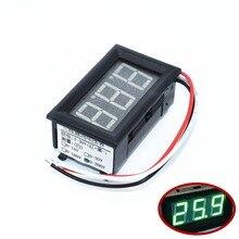 TENSTAR ROBOT 10pcs 0.56″ Voltmeter DC:0-200V Three wires Voltage Panel Meter led Color: Green