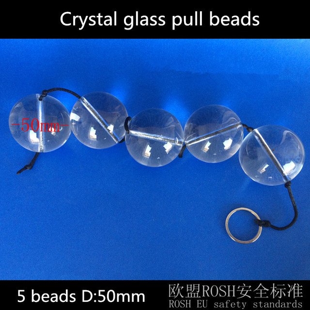 5 beads 50mm Crystal anal dildo anal plug pull beads butt plug anal toys sex products erotic toys sextoy adult sex toys for men