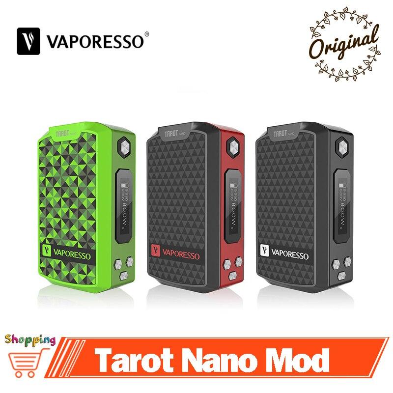 Original Vaporesso Tarot Nano Mod Vape 80W TC Box MOD Built in Battery 2500mAh For VECO