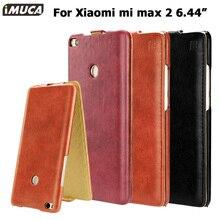 IMUCA телефон чехол для сяо Mi Max 2 Чехол Флип Капа задняя крышка для сяо Mi Ми Max2 6.44 дюймов Кожаные чехлы телефона
