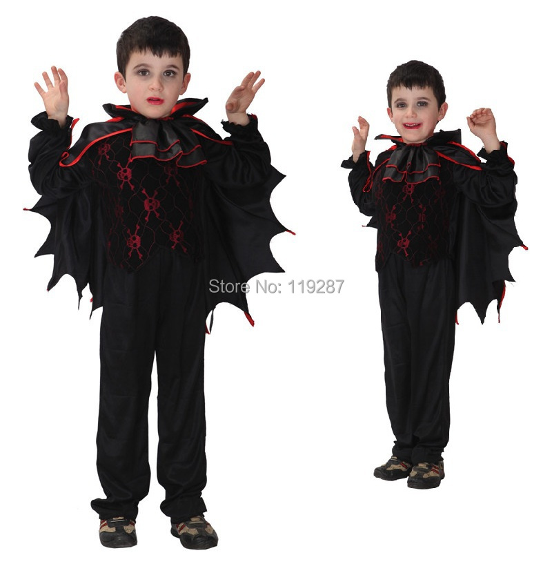 free shipping childrens vampire cosplay costume boys kids bat wings halloween fancy carnival costume in boys costumes from novelty special use on
