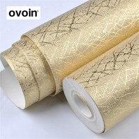 Vinyl Luxury Metallic Glitter Gold Texture Wallpaper Roll Wall Paper