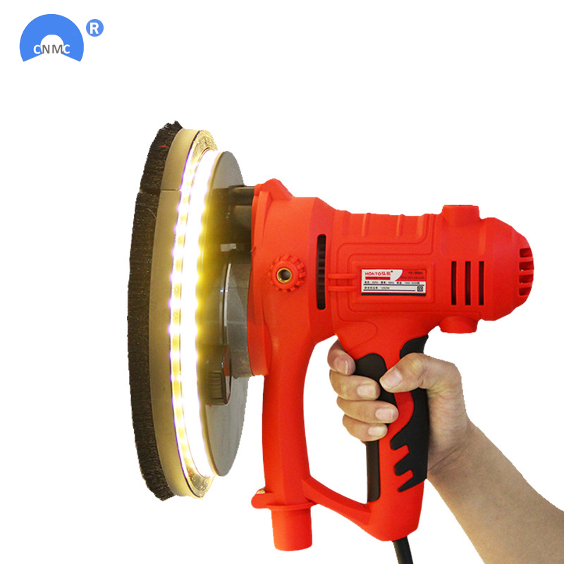 Electric Led Light Wall Putty Polisher Machine 220V Sanding Grinding Machine