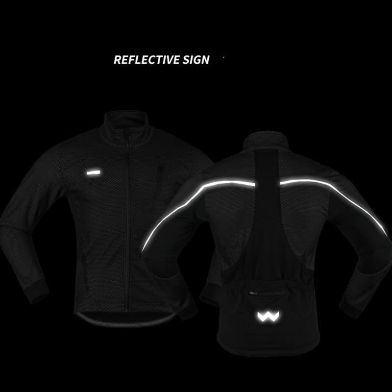 4 Colors Reflective Thermal Cycling Jacket Winter Warm Up Fleece Bicycle Clothing Windproof Waterproof Sports MTB Bike Coat in Cycling Jackets from Sports Entertainment