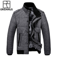 2017 New Brand Winter Warm Jacket For Men Hooded Coats Casual Mens Thick Male Slim Cotton