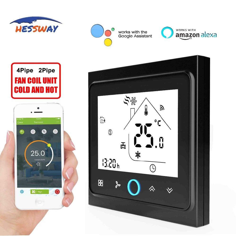 HESSWAY TUYA WIFI THERMOSTAAT temperatuur schakelaar voor fan coil door Werkt met Alexa Google thuis