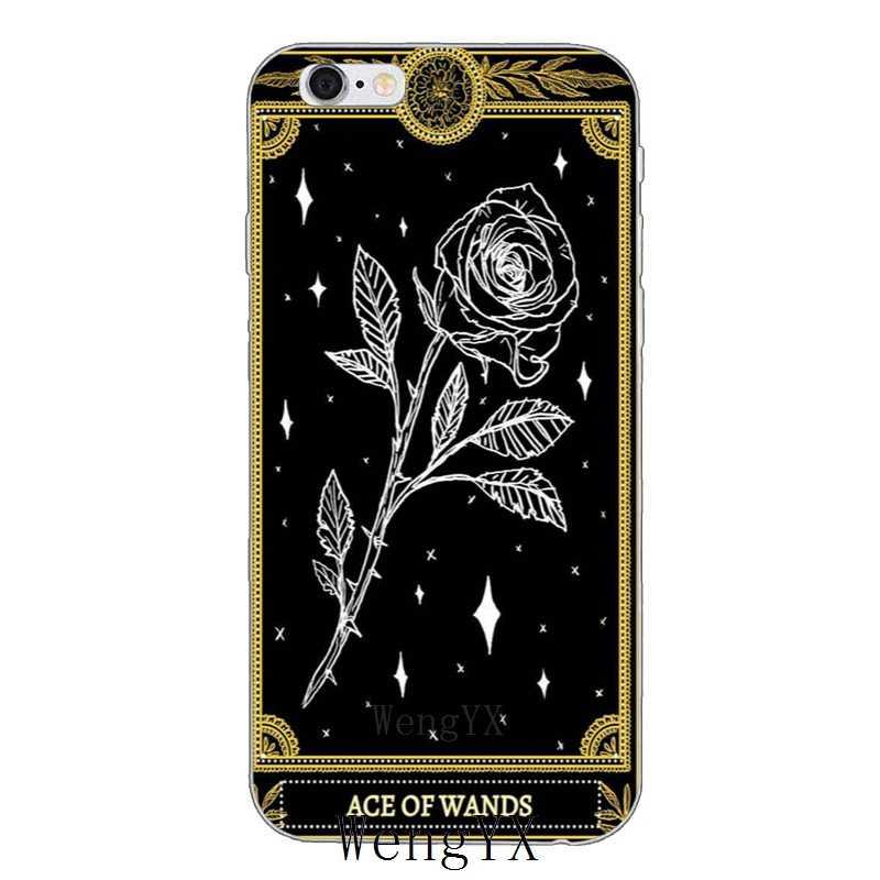 Thẻ mát đen Các Cúc Vạn Thọ Tarot silicone Mềm điện thoại case Cho Xiaomi Mi 6 A1 5 5 s 5x mix max 2 Redmi Note 3 4 5 5A 4X pro cộng với