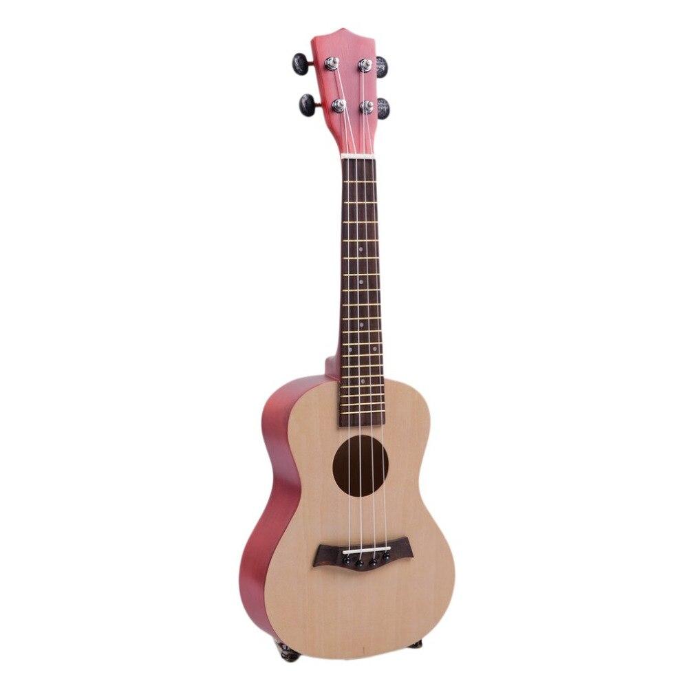 Цай 7 шт./компл. 21 23 дюймов Профессиональные Деревянный Гавайская гитара Гавайи Стиль липы 4 Strings Ukelele музыкальный инструмент для начинающих