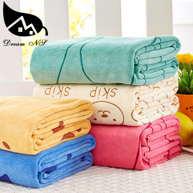 Adult men and women home baby bath towel baby bath towel large absorbent towel Increased thickening 70 * 140cm 200g pcs