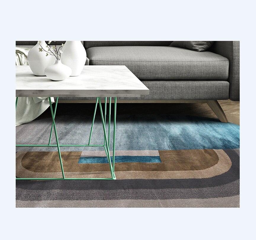 Minimalisme Style tapis ovale pour salon haute qualité Super doux chambre Anti Slip tapis de sol dégradé tapis de salon