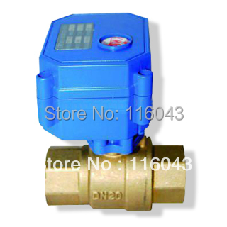 BSP3/4'' full port motorized valve DC3-6V,  normal colse return wires for heating,water control systems