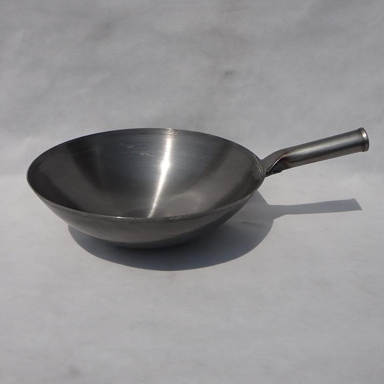 昔ながらの伝統的な鉄の中華鍋洗練鉄鍋中国鍋ラウンドボトム鍋フライパン  グループ上の ホーム&ガーデン からの 中華鍋 の中 1