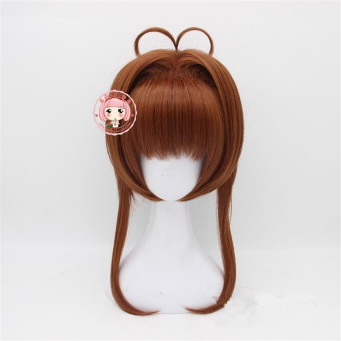 Sakura Kinomoto Cosplay wig Card Captors Sakura anime costume play wigs Halloween costumes hair cosplay wig  A577