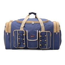 Men Travel Bags Large Capacity Storage Organizer Fashion Canvas Hand Luggage Packing Cubes Folding Bag Multi-Pocket