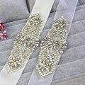 New Arrival Rhinestone Crystal Beading Formal Bridal Wedding Belt Sparkly Handmade Stunning Bridal Sash women waistband WB07