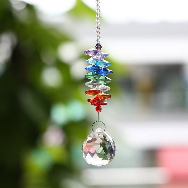 Crystal Ball Chandelier Prisms Pendants Hanging Drop Office Home Ornament Christmas Party Decoration Handcrafts