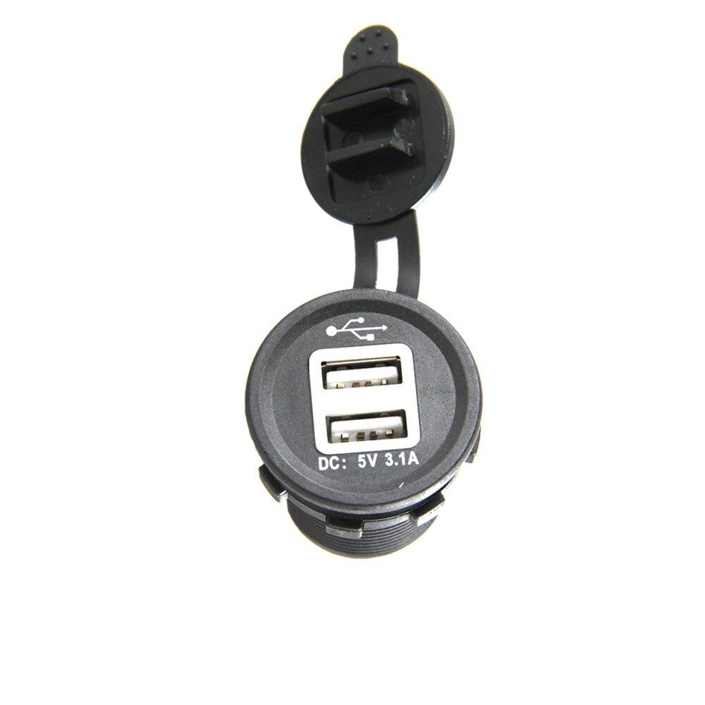1 pcs Carro Dual USB Adaptador de Alimentação Carregador de Tomada para telefone ipad USB carregador de carro azul LEVOU luz