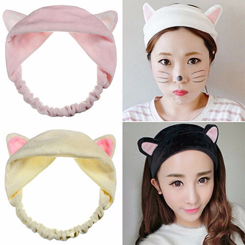 Beauty & Health 1pc Fashion Cute Lady Girl Elastic Grail Cat Ears Hair Braiders For Washing Face Headdress Women Hair Accessories Party Styling Tools