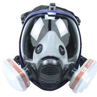 Full Face Gas Mask Chemical Respirator with 6001 Cartridges Against Organic Vapor/Chlorine gas/Benzene KR006