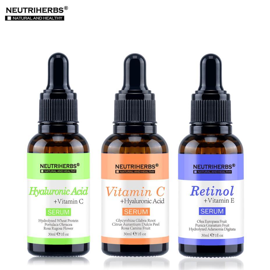 Neutriherbs Serum 3 in 1 Facial Treatment Essence Set with Vitamin C Vitamin A Retinol + Vitamin E Whitening Anti-Wrinkle Serum vitamin a 42b mlm