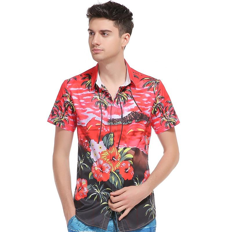 b7b79701 New Summer Men Casual Shirts Fashion Short Sleeve Brand Printed Hawaiian  Shirt Formal Business Floral Men Dress Shirt B4027-in Casual Shirts from  Men's ...