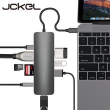 Jckel USB C Type C 3.1 HUB to HDMI RJ45 Gigabit Ethernet Ada
