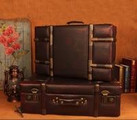 Европейский ретро чемодан Винтаж деревянный ящик для хранения окно Дисплей чемодан подарки Подставки для фотографий продукты шкафчик укра