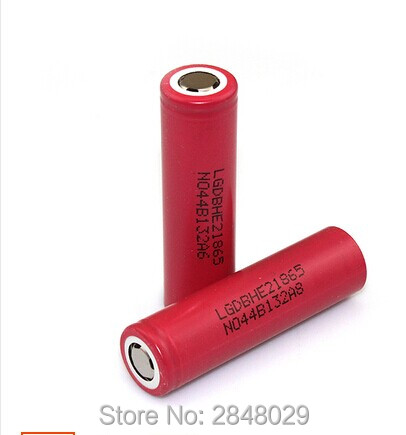 HE2 2pcs original for LG 18650 3.7 V 2500 mAh IMR18650 35A charged battery High Capacity 20A maximum switching descargaE4 (HE4)
