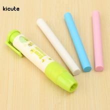 3pcs/pack Novely Colorful Rubber Eraser Pen Shape Eraser Rubber Stationery for Kid Gift School Students Supplies Color Ramdom