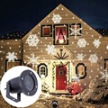 Outdoor Waterproof Moving Snow Snowflake LED Projector Lamps Light For Christmas Party Landscape Light Garden Projector Lamp