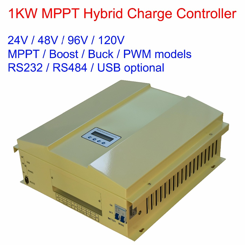 1000 Вт/1 кВт 24 В/48 В/96 в/120 в MPPT/BUCK/BOOST/PWM ЖК дисплей ветряная солнечная батарея (600 Вт) гибридный регулятор заряда, RS485, RS232